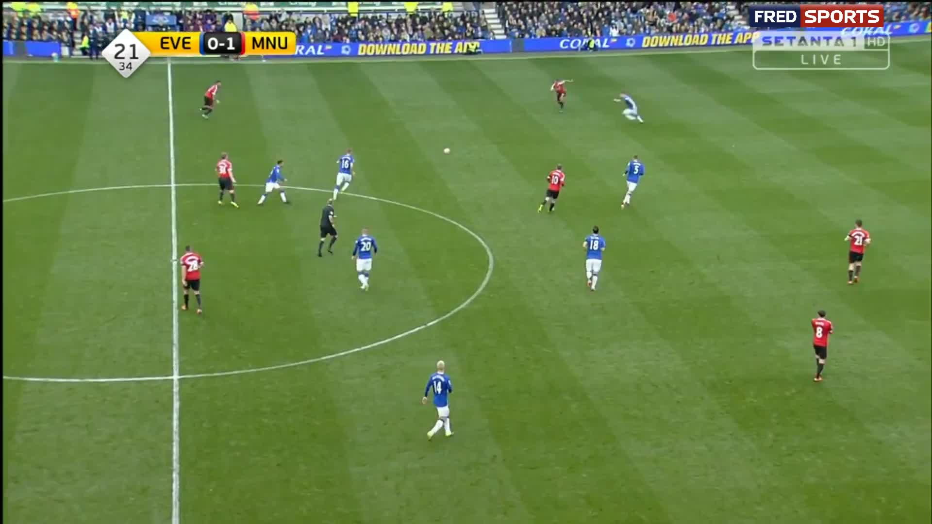 Herrera scores to make it Everton 0 - 2 M Utd - video